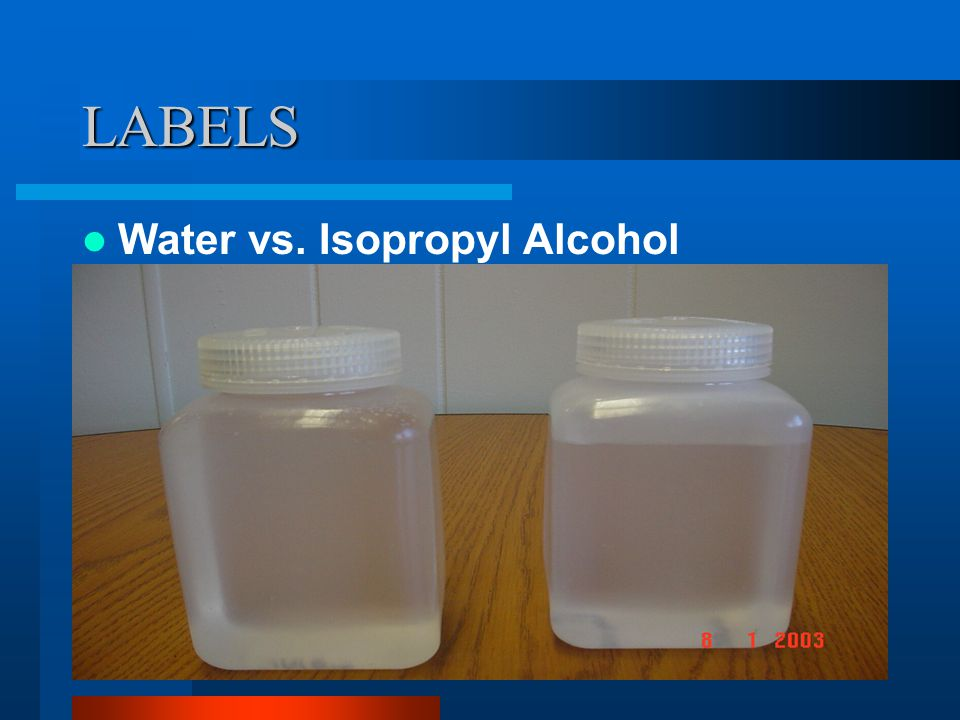 LABELS In the following slides, two containers are shown side by side.