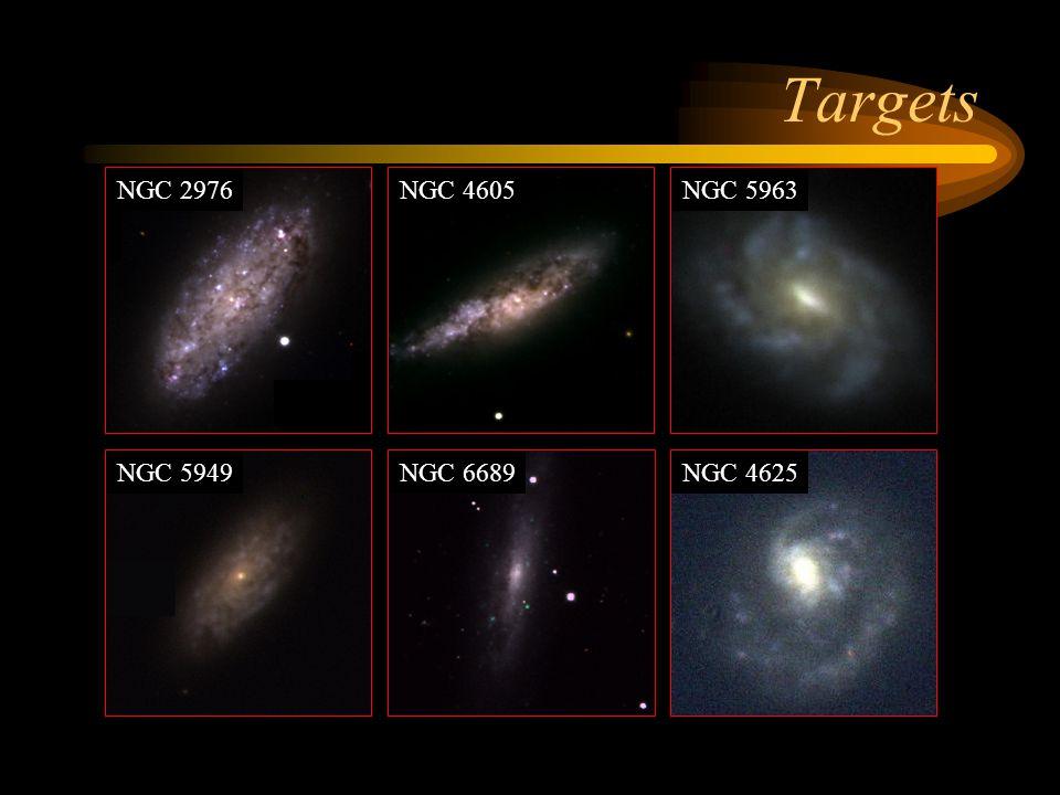 Targets NGC 4605NGC 5963 NGC 5949NGC 6689NGC 4625 NGC 2976