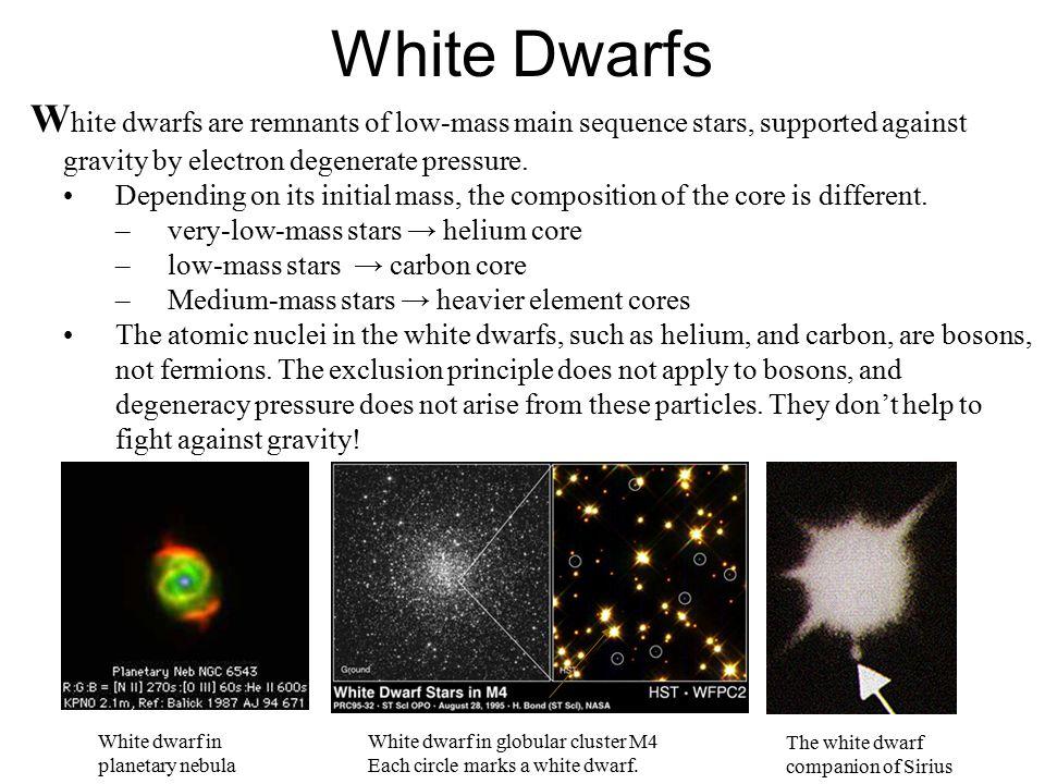 Degeneracy 'Stars' –Brown Dwarfs –White Dwarfs –Neutron Stars Black Holes –Gamma-Ray Bursts – a mystery!