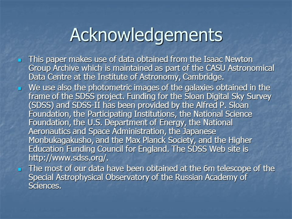 Acknowledgements This paper makes use of data obtained from the Isaac Newton Group Archive which is maintained as part of the CASU Astronomical Data Centre at the Institute of Astronomy, Cambridge.