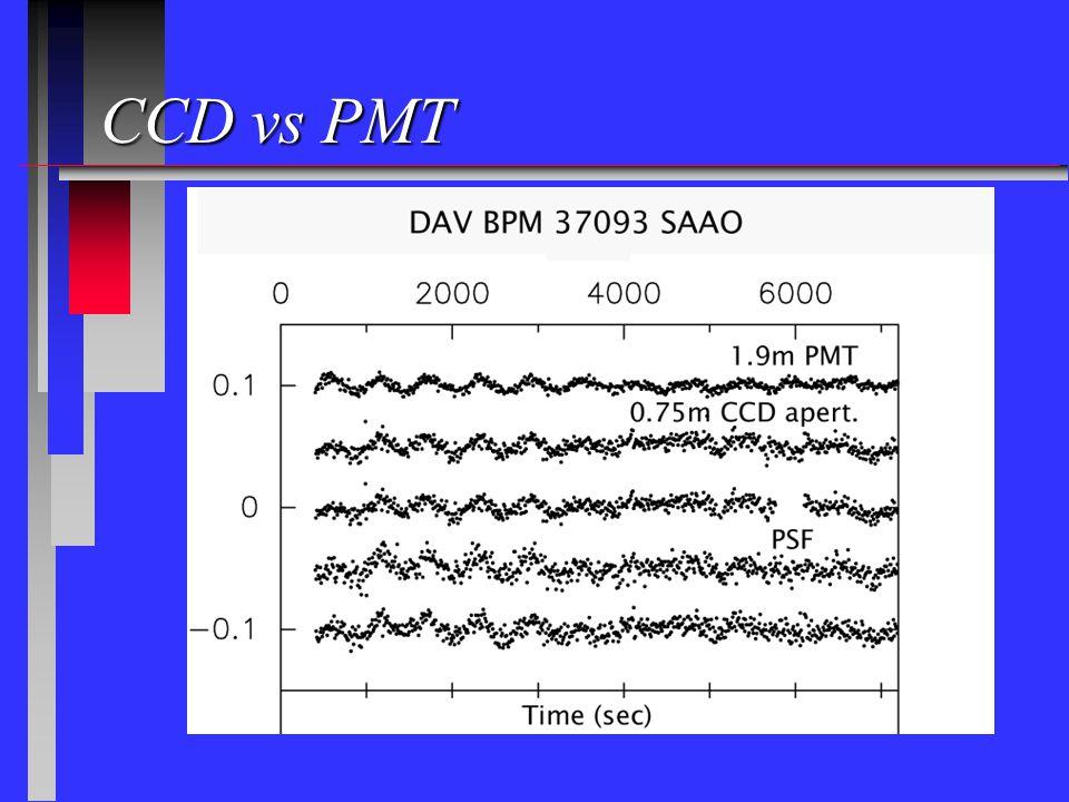 PMT CCD vs PMT