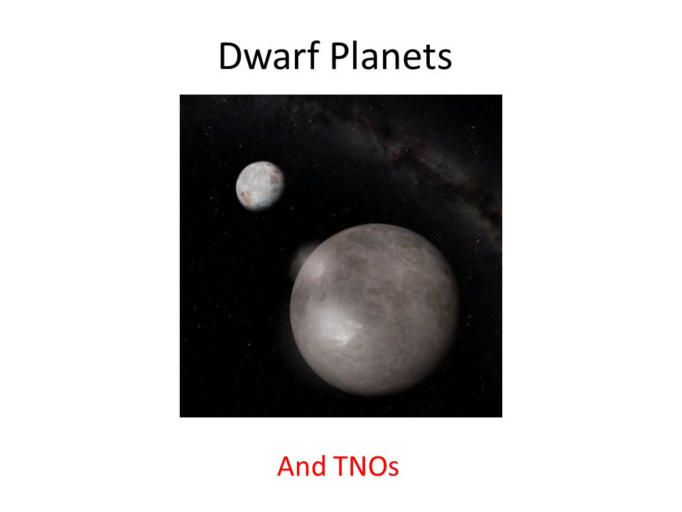 Dwarf Planets And TNOs