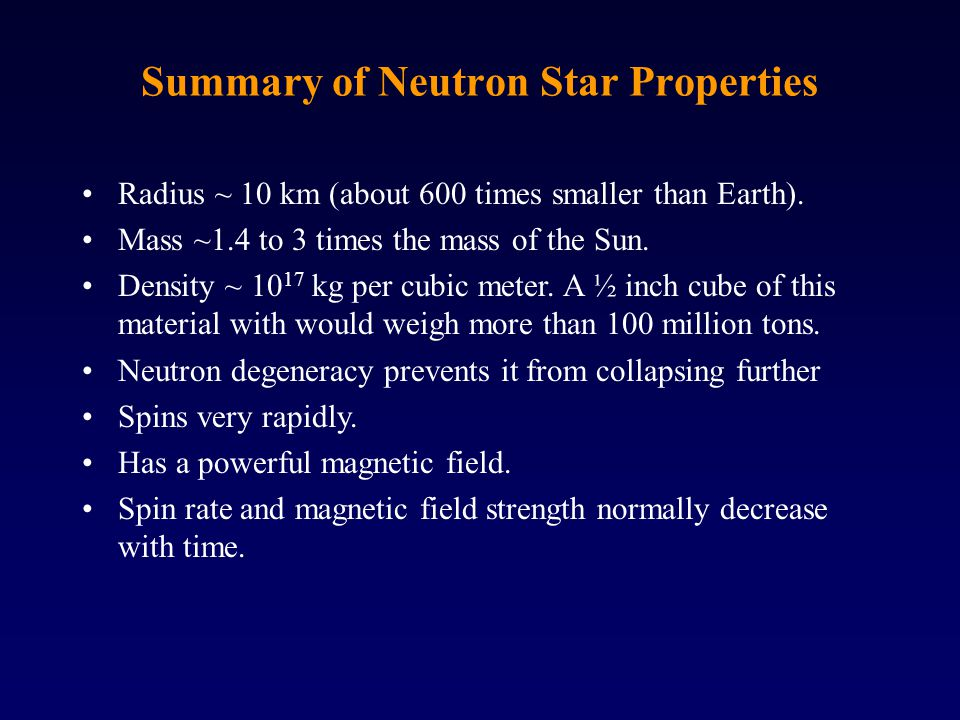 Rotation Rate and Magnetic Field As the star collapses, its magnetic field is concentrated in a smaller area, becoming as much as a trillion times as strong as that of the Sun.