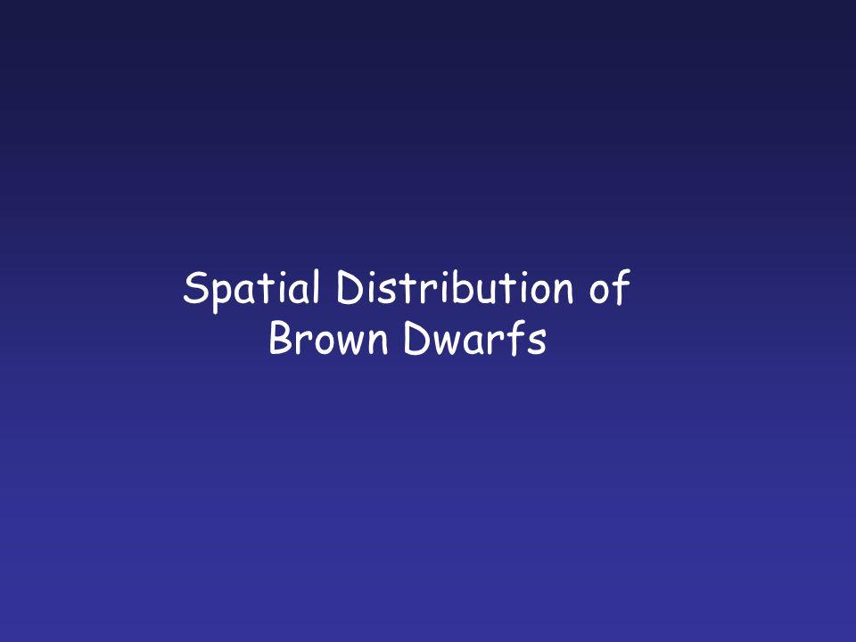 Spatial Distribution of Brown Dwarfs