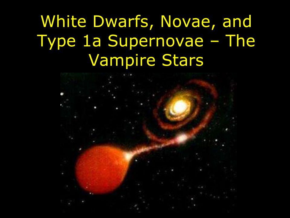White Dwarfs, Novae, and Type 1a Supernovae – The Vampire Stars