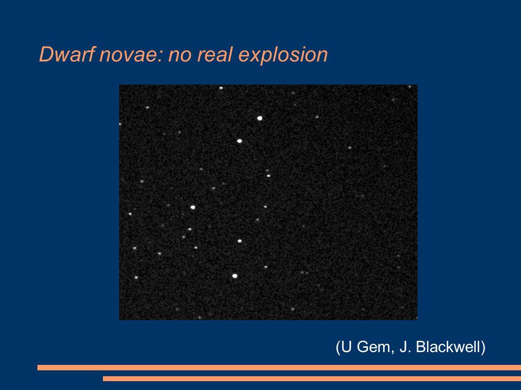 Dwarf novae: no real explosion (U Gem, J. Blackwell)