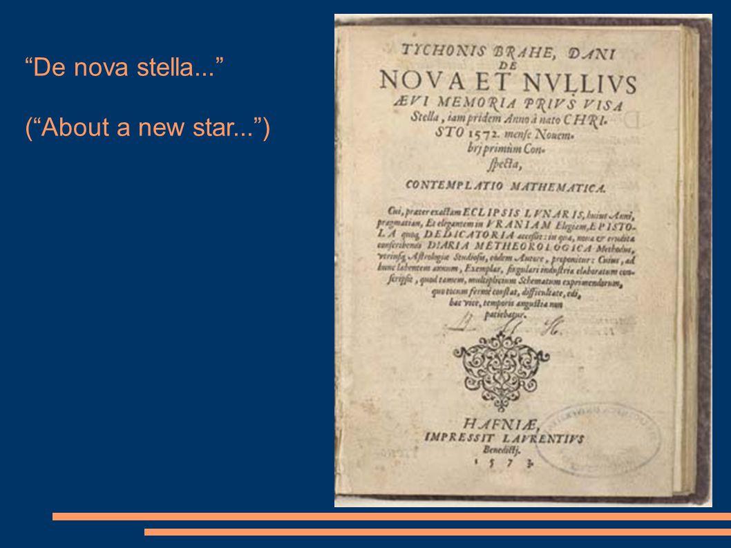 """De nova stella..."" (""About a new star..."")"
