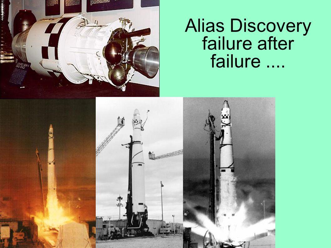 Alias Discovery failure after failure....