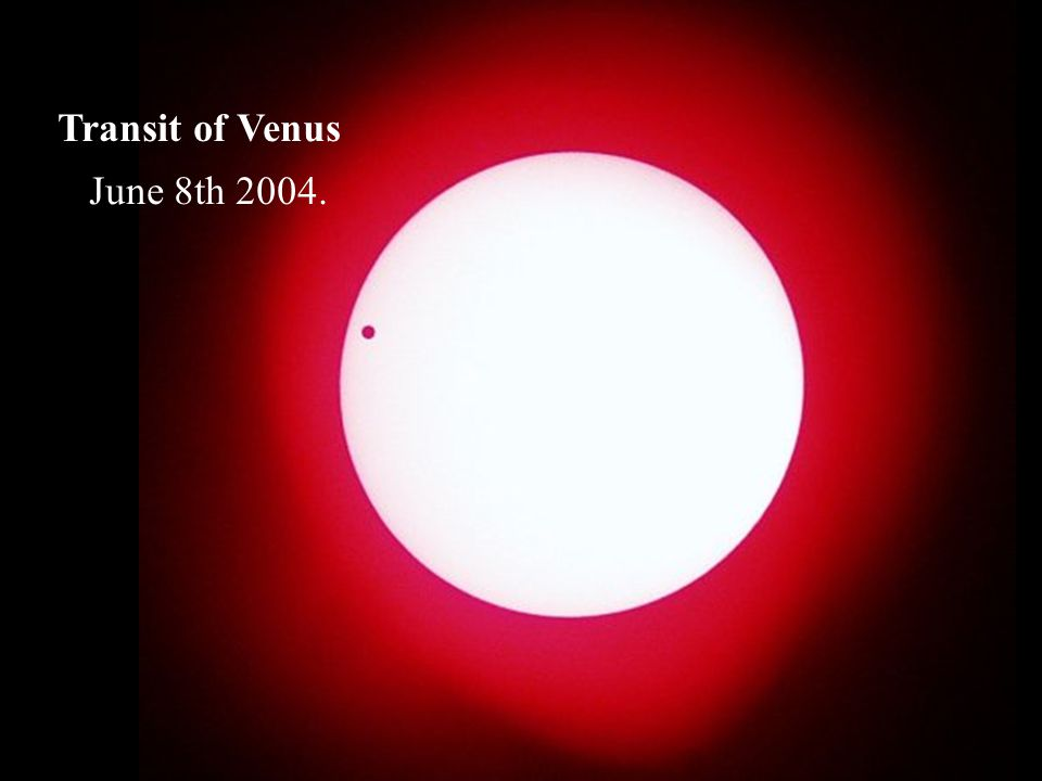 Transit of Venus June 8th 2004.