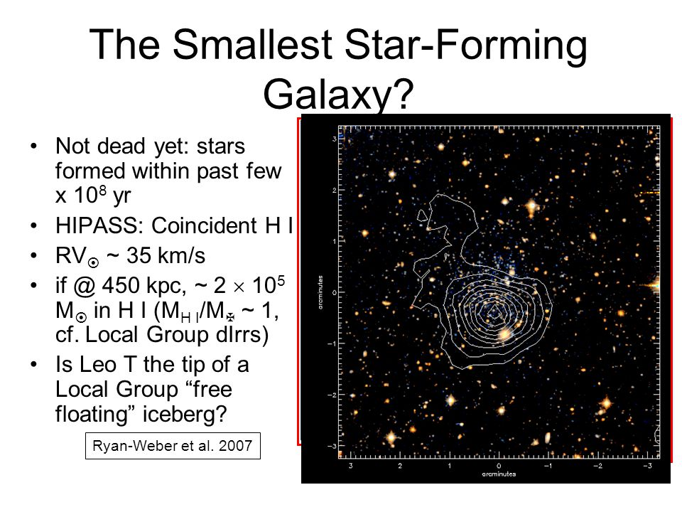 The Smallest Star-Forming Galaxy.