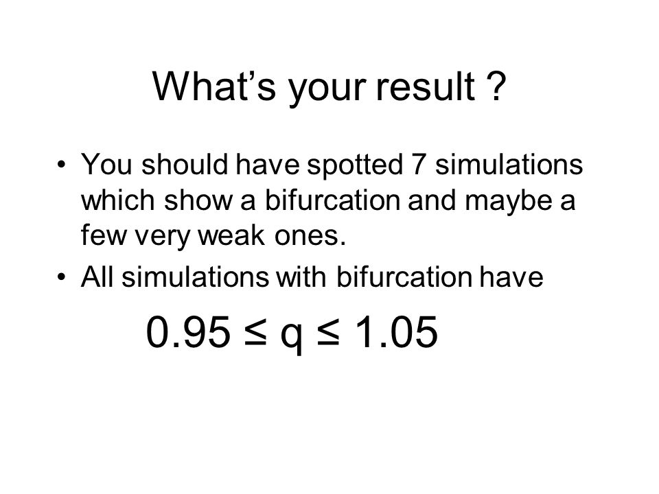 What's your result .