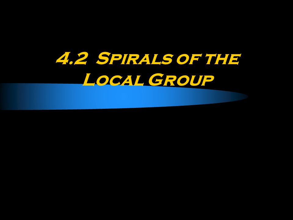 4.2 Spirals of the Local Group