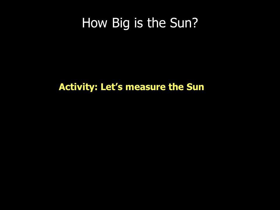 How Big is the Sun.