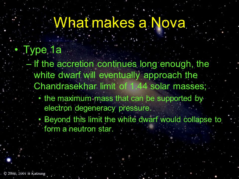 Type 1b, 1c, II Type 1b and 1c, like supernovae of Type II, are probably massive stars running out of fuel at their centers Type II are massive stars (<~8 Solar masses) that have exhausted their Hydrogen causing He to fuse, then He  C (triple α process)  Progressively heavier elements until Fe is reached.