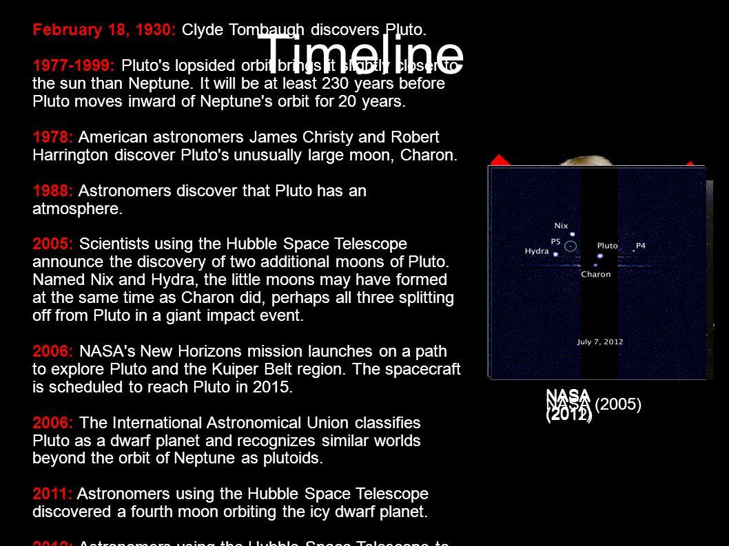 17 Pluto System Pluto has 5 moons...