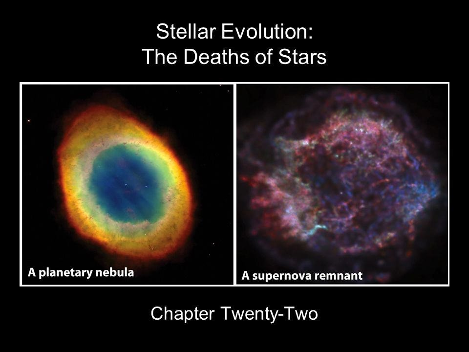 Stellar Evolution: The Deaths of Stars Chapter Twenty-Two
