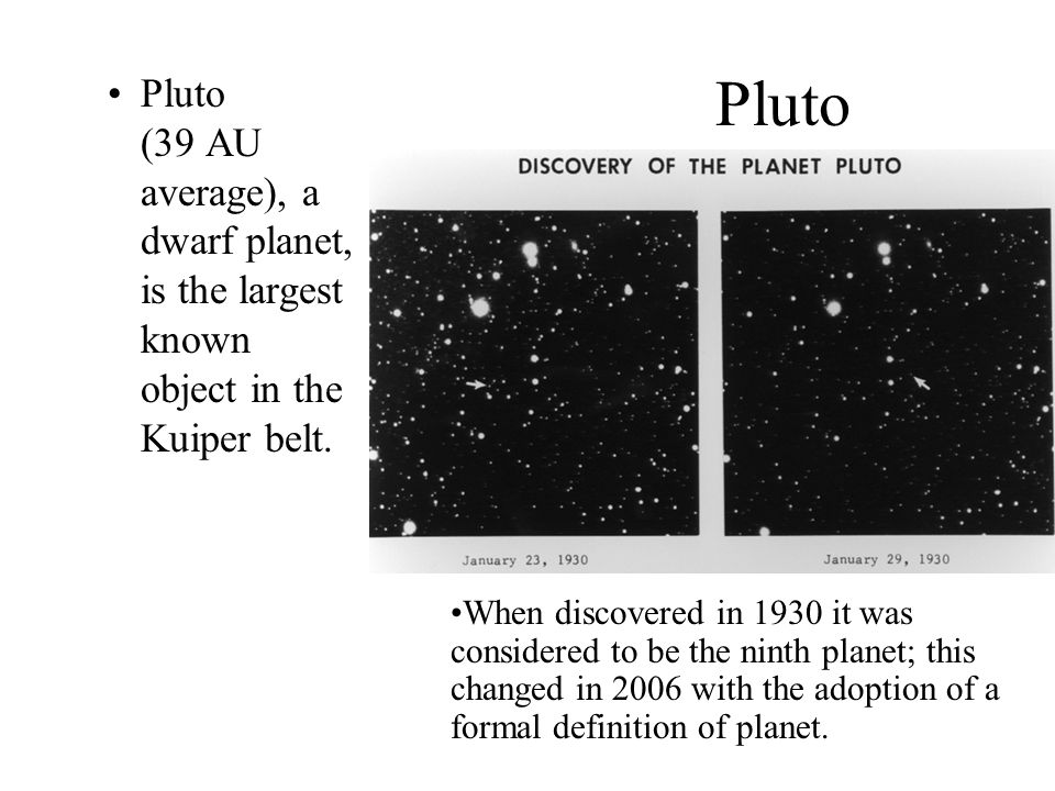 Pluto has a relatively eccentric orbit inclined 17 degrees to the ecliptic plane and ranging from 29.7 AU from the Sun at perihelion (within the orbit of Neptune) to 49.5 AU at aphelion.