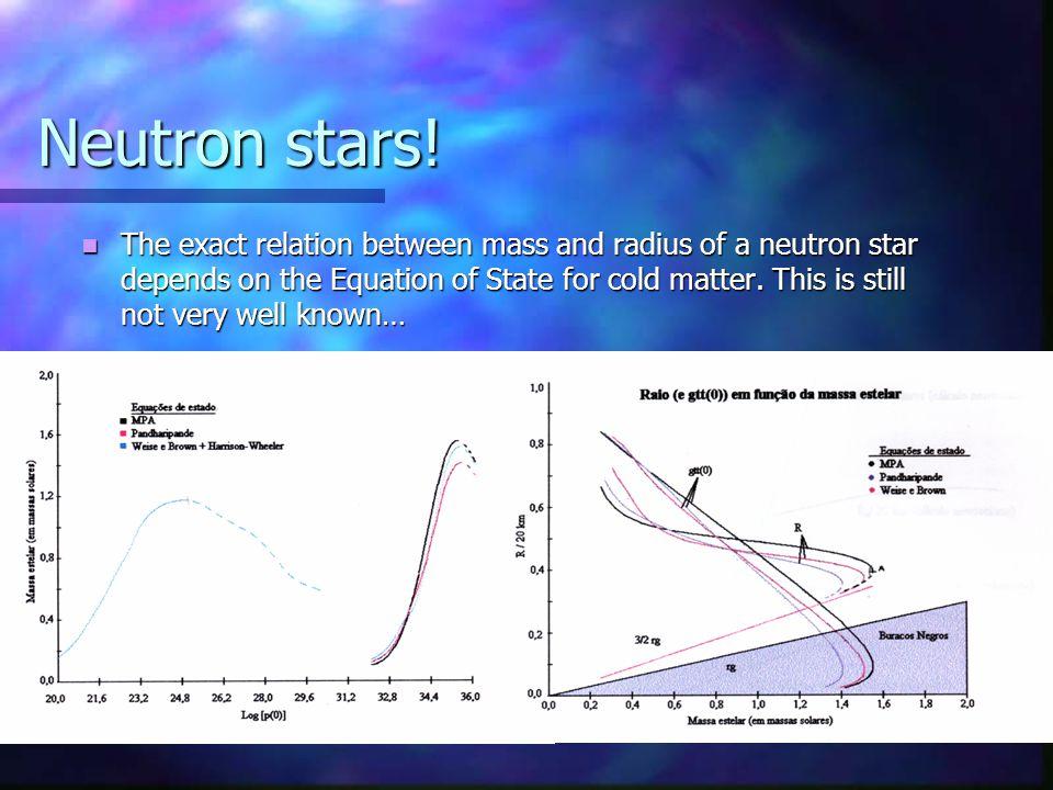 Neutron stars.