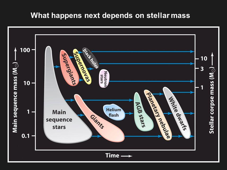 What happens next depends on stellar mass