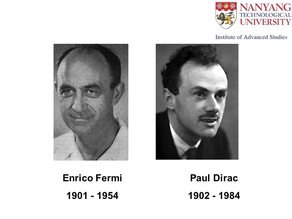 Enrico Fermi 1901 - 1954 Paul Dirac 1902 - 1984