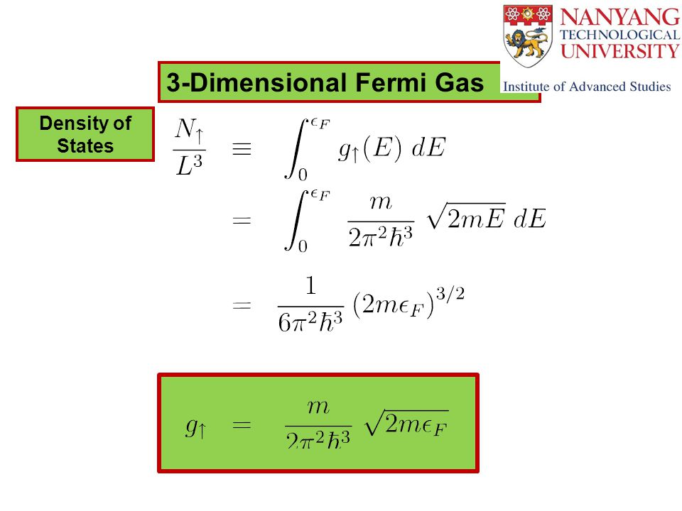3-Dimensional Fermi Gas Density of States