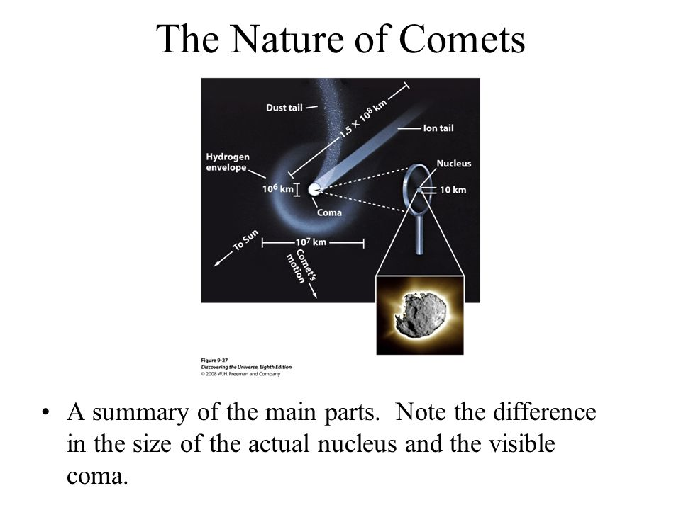 The Nature of Comets A summary of the main parts.