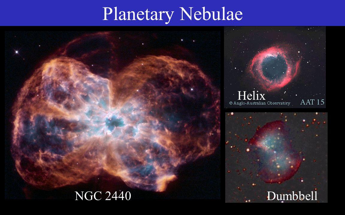Hourglass Eskimo Planetary Nebulae