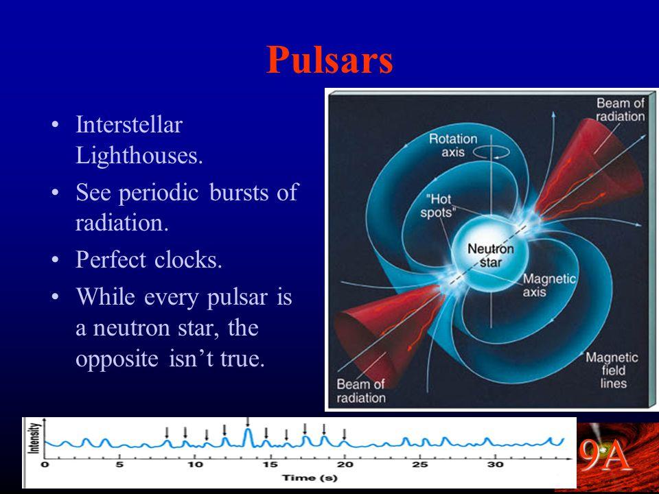 9A Neutron Stars A giant ball of neutrons. Mass : at least 1.4 x mass of the Sun.