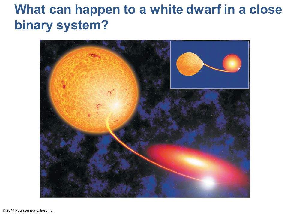 © 2014 Pearson Education, Inc. What can happen to a white dwarf in a close binary system