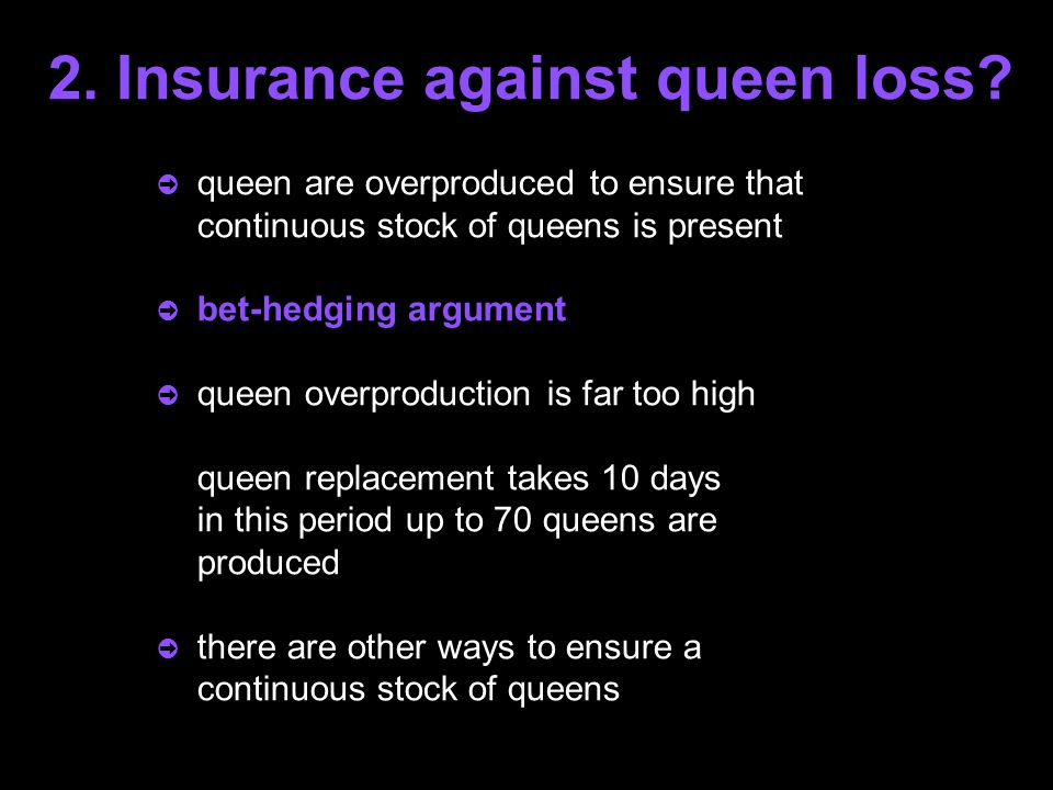 2.Insurance against queen loss.