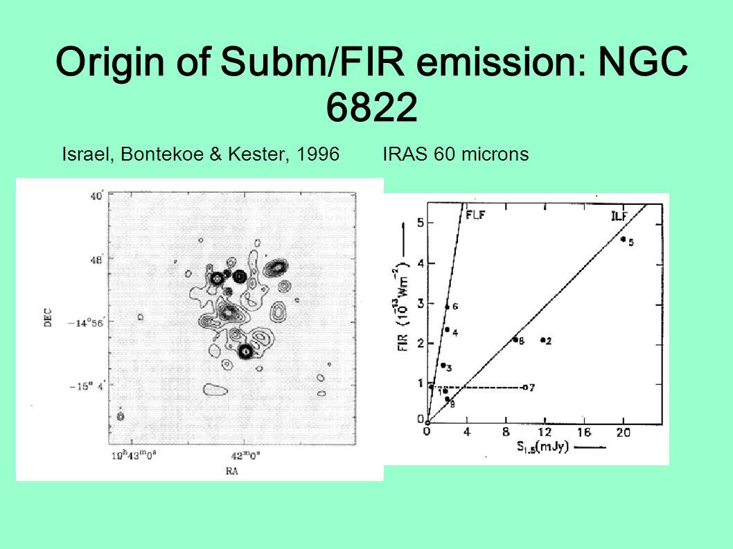 Origin of Subm/FIR emission: NGC 6822 Israel, Bontekoe & Kester, 1996 IRAS 60 microns I