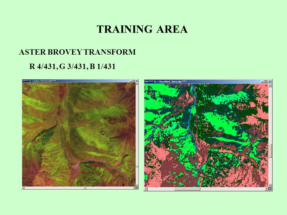 TRAINING AREA ASTER BROVEY TRANSFORM R 4/431, G 3/431, B 1/431