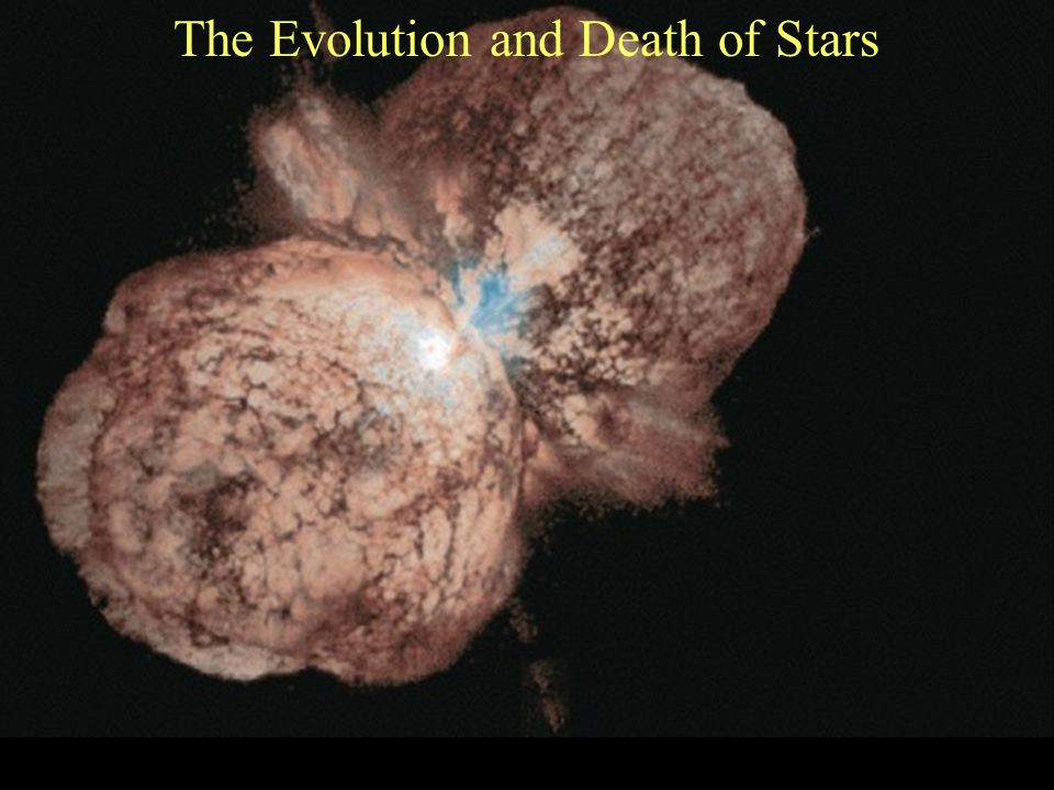 Stars Leave the Main Sequence The hydrogen atoms in the core of the star that fuse together to create helium, start to run out and fusion begins to slow down The system becomes out of balance Something has to happen to keep the star from collapsing in on itself