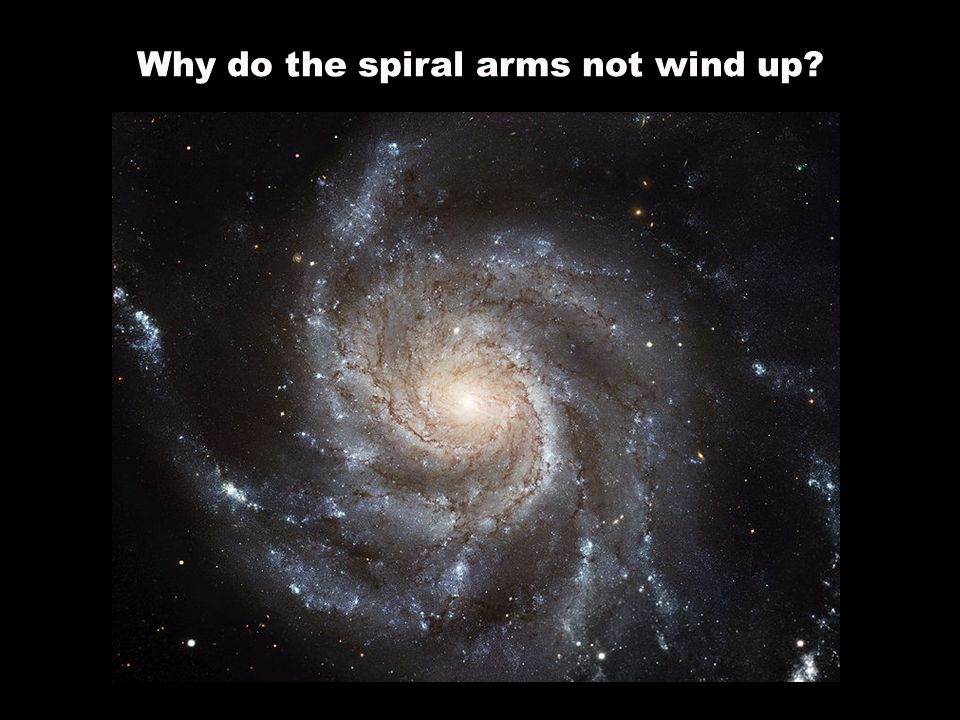 Why do the spiral arms not wind up?