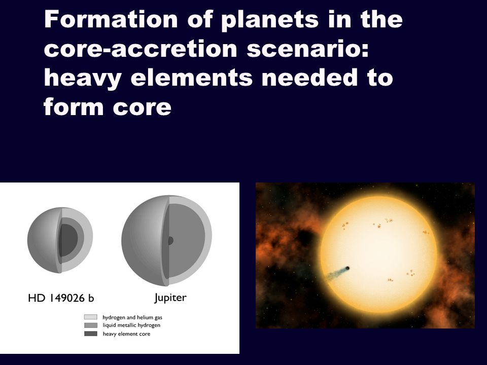 Formation of planets in the core-accretion scenario: heavy elements needed to form core