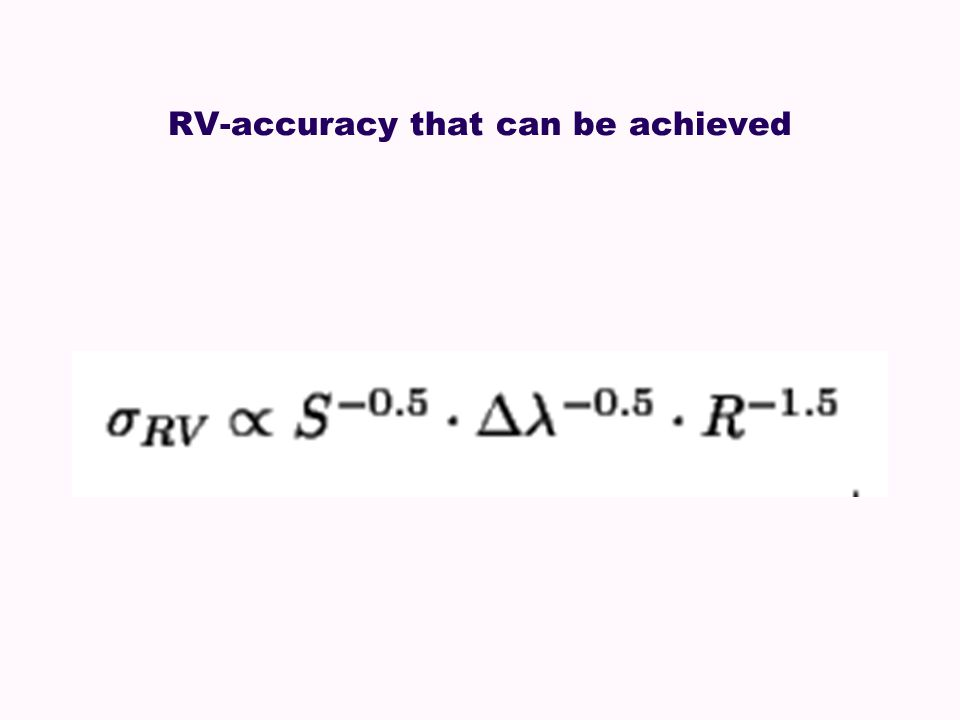 RV-accuracy that can be achieved