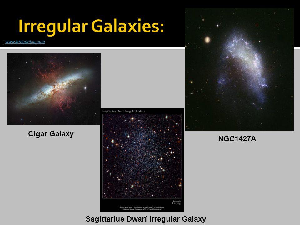 Cigar Galaxy : www.britannica.comwww.britannica.com NGC1427A Sagittarius Dwarf Irregular Galaxy
