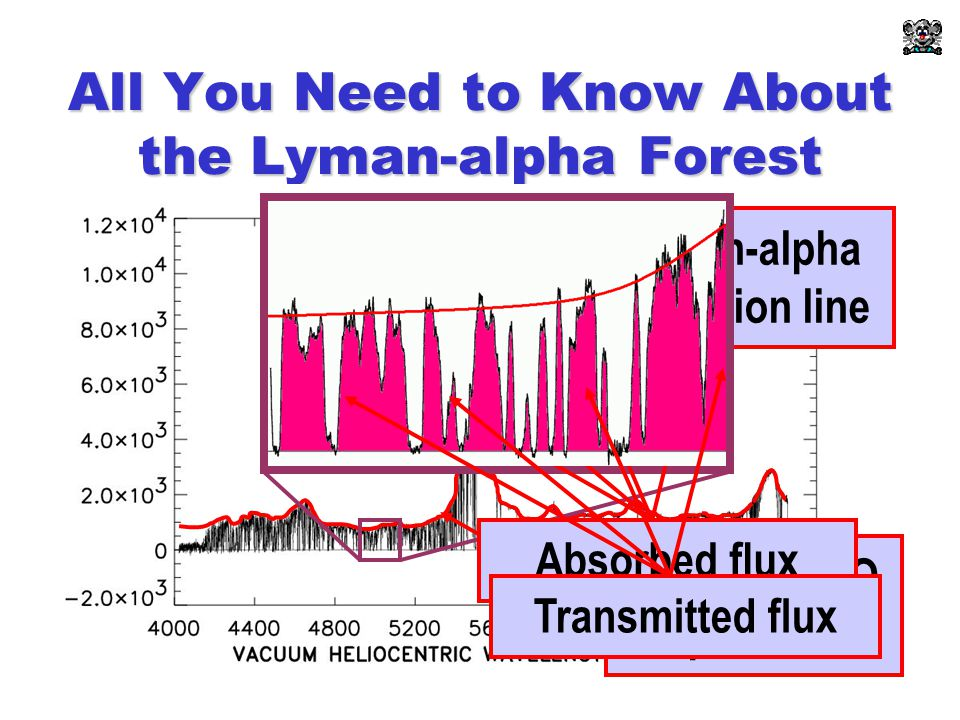 All You Need to Know About the Lyman-alpha Forest Lyman-alpha emission line Intrinsic QSO spectrum Absorbed fluxTransmitted flux