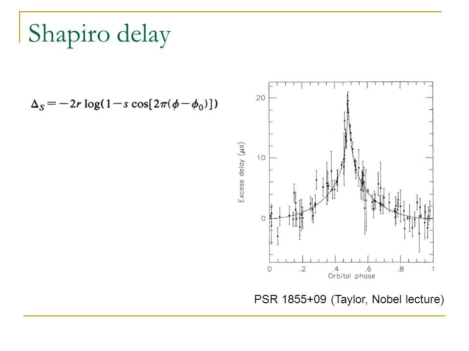 Mass measurements PSR 1913+16 (Taylor)