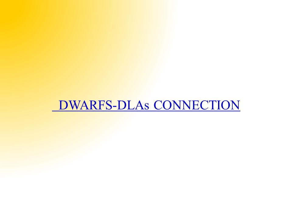 DWARFS-DLAs CONNECTION