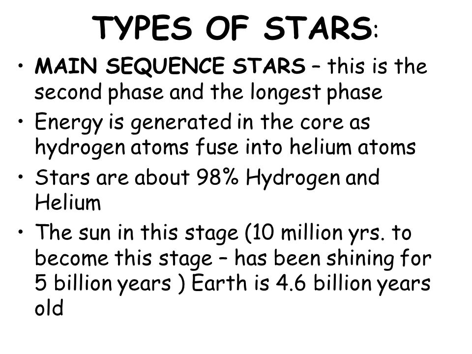 GIANTS AND SUPERGIANTS Third stage – RED GIANT RED GIANT – A large reddish star late in its life cycle - a star that expands and cools once it uses all of its hydrogen Eventually will shrink When shrinks – atmosphere grows large and cools to a red giant or red supergiant In 5 billion years the sun will become a red giant
