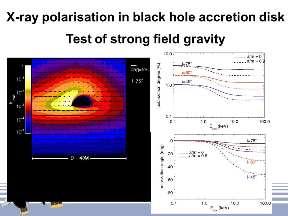 X-ray polarisation in black hole accretion disk Test of strong field gravity
