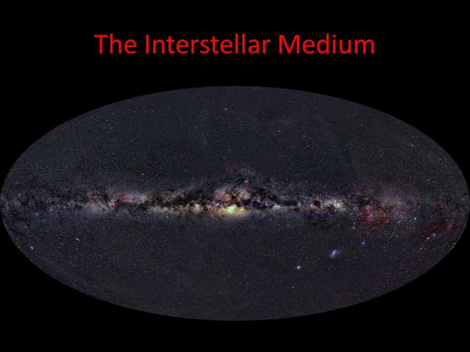 The Interstellar Medium The interstellar medium of the milky way consists of clouds containing 90% Hydrogen, 9% Helium, and 1% dust grains. It has an