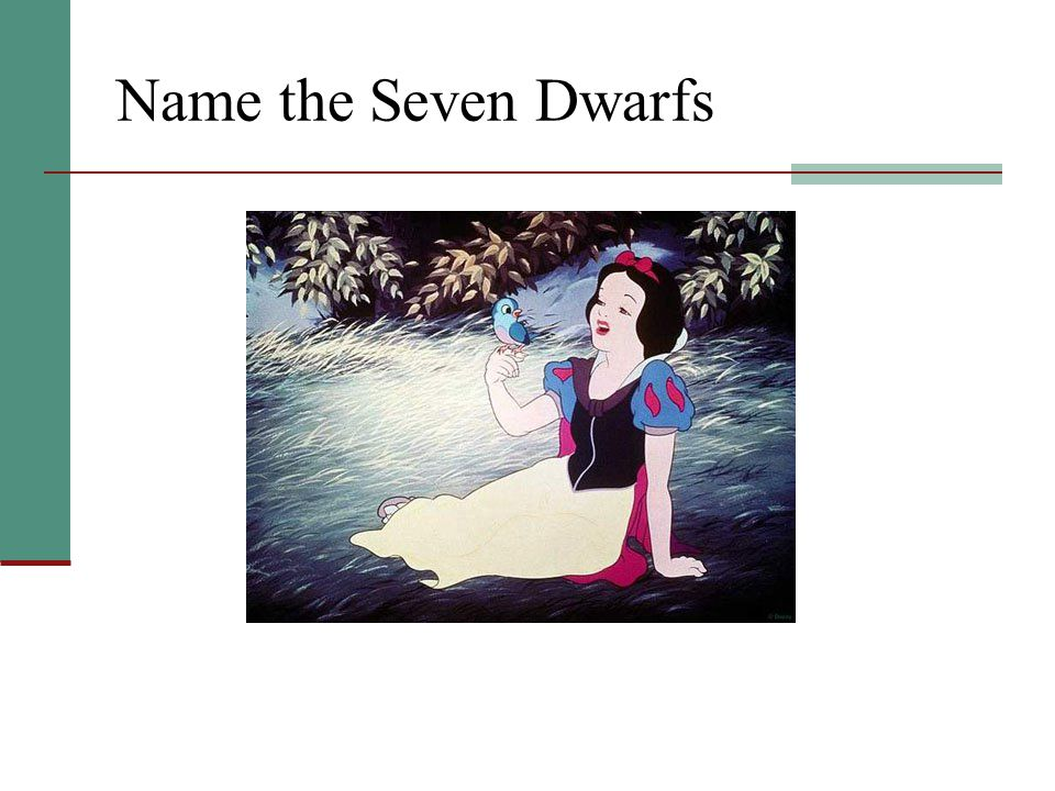 Name the Seven Dwarfs