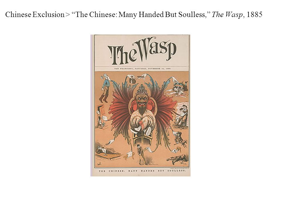 Chinese Exclusion > The Chinese: Many Handed But Soulless, The Wasp, 1885