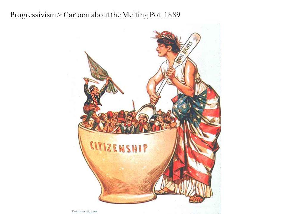 Progressivism > Cartoon about the Melting Pot, 1889