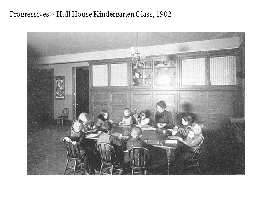 Progressives > Hull House Kindergarten Class, 1902