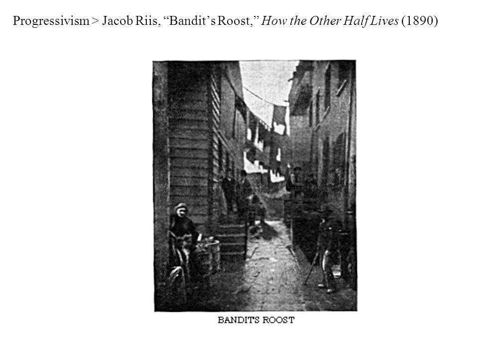 Progressivism > Jacob Riis, Bandit's Roost, How the Other Half Lives (1890)