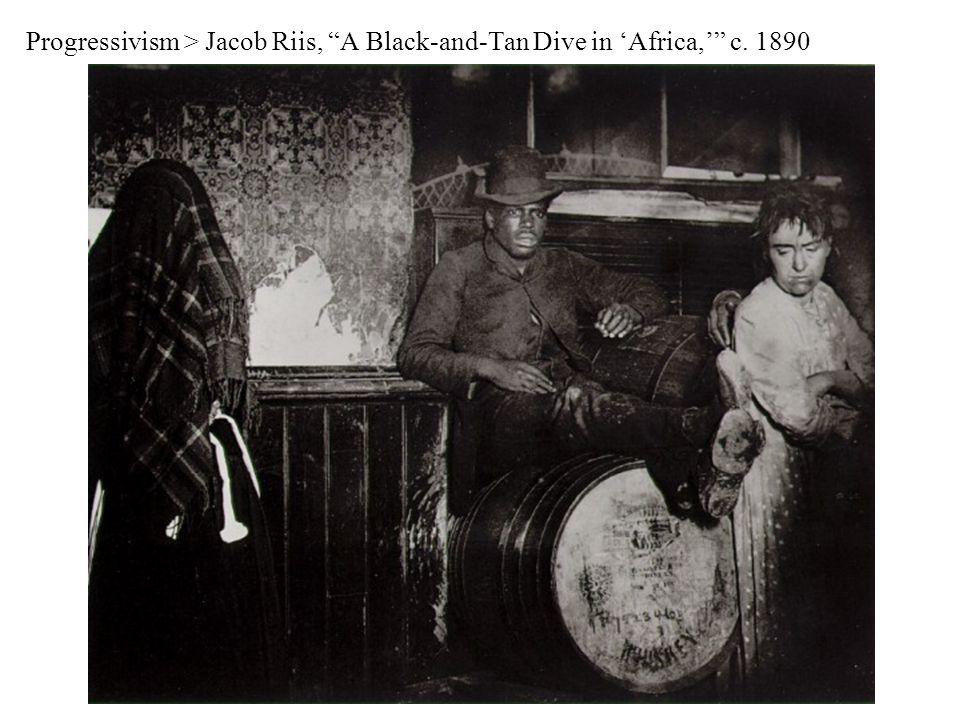 Progressivism > Jacob Riis, A Black-and-Tan Dive in 'Africa,' c. 1890