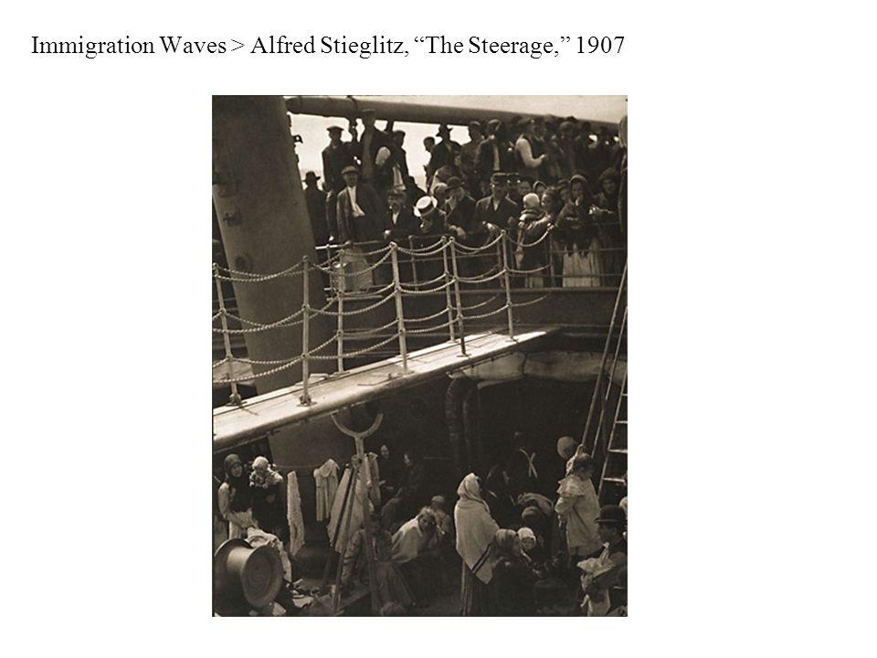 Immigration Waves > Alfred Stieglitz, The Steerage, 1907